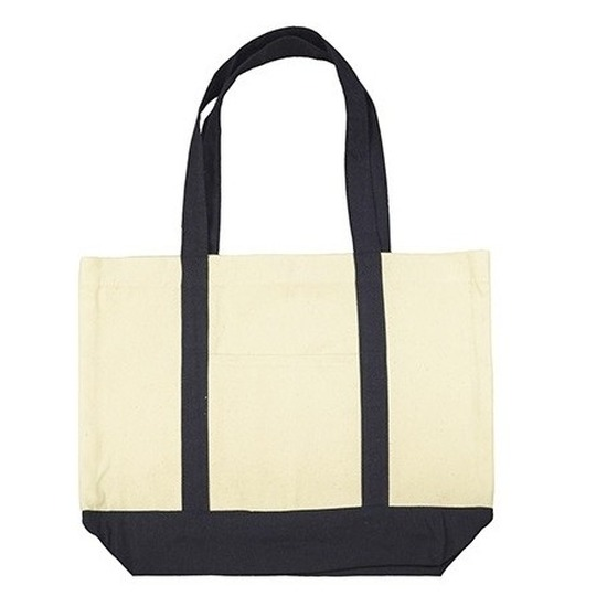 b1b62724793 Basis katoenen shopper met drukknopen   Tassen winkel - online ...