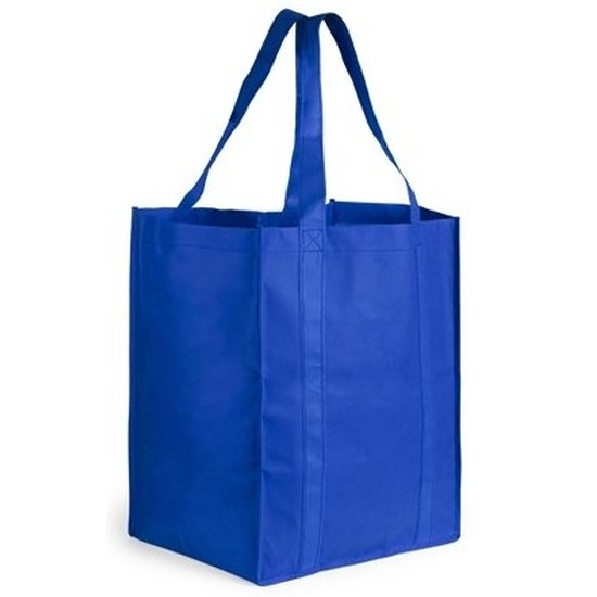 Boodschappen tas/shopper blauw 38 cm