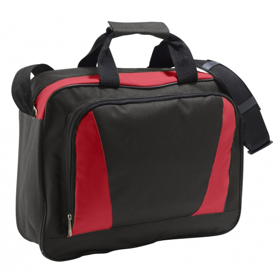 ad2c3ae039d Documenten tas rood/zwart. een tweekleurige documententas voorzien van  groot vak met tweezijdige .