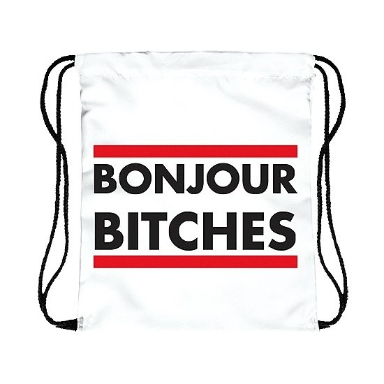Festival tasje Bonjour Bitches wit