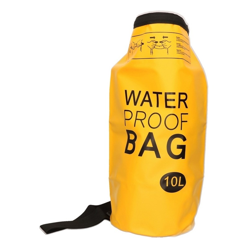Gele waterdichte tas 10 liter Geen Het leukste