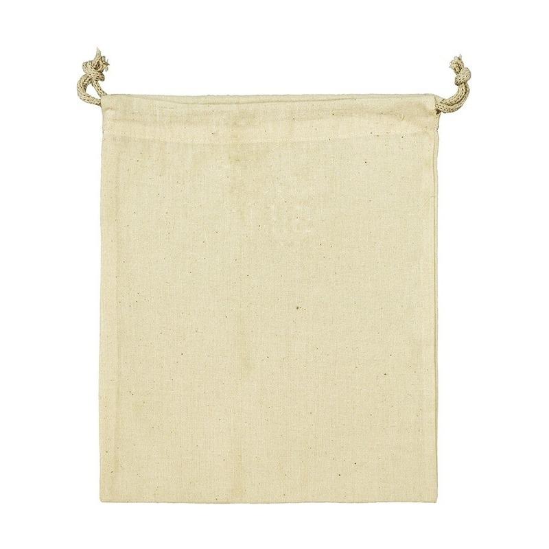 Huishouden Geen Linnen opbergtasje met koord 10 x 14 cm