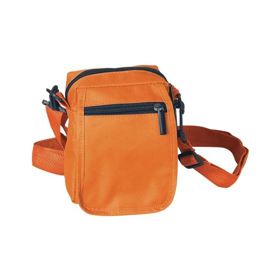 Geen Oranje schoudertasje met rits 15 cm Tassen