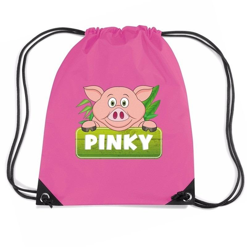 Pinky the Pig varkens rugtas / gymtas roze voor kinderen
