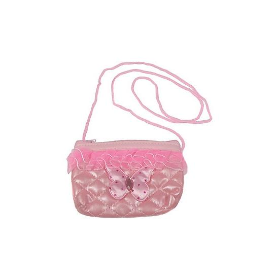 05dbf94481d Prinsessen schoudertas met ruches. deze roze schoudertas met ruches maakt  je prinsessen outfit helemaal af