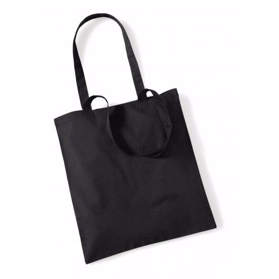 Promotie tasje zwart katoen 42 x 38 cm