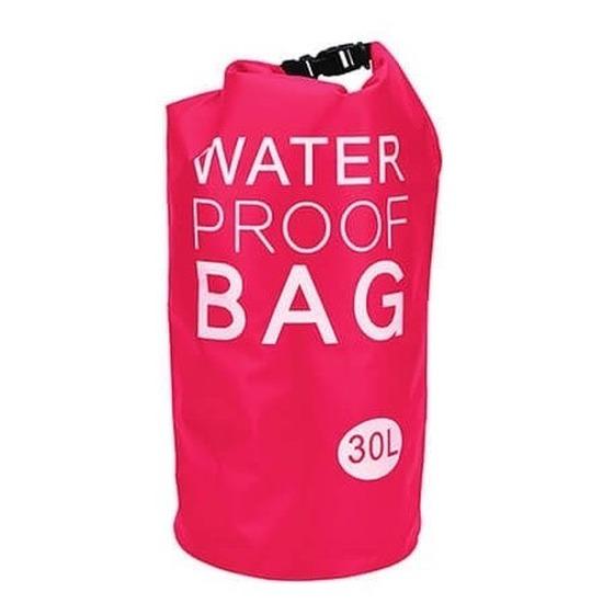Roze waterdichte tas 30 liter Geen Tassen