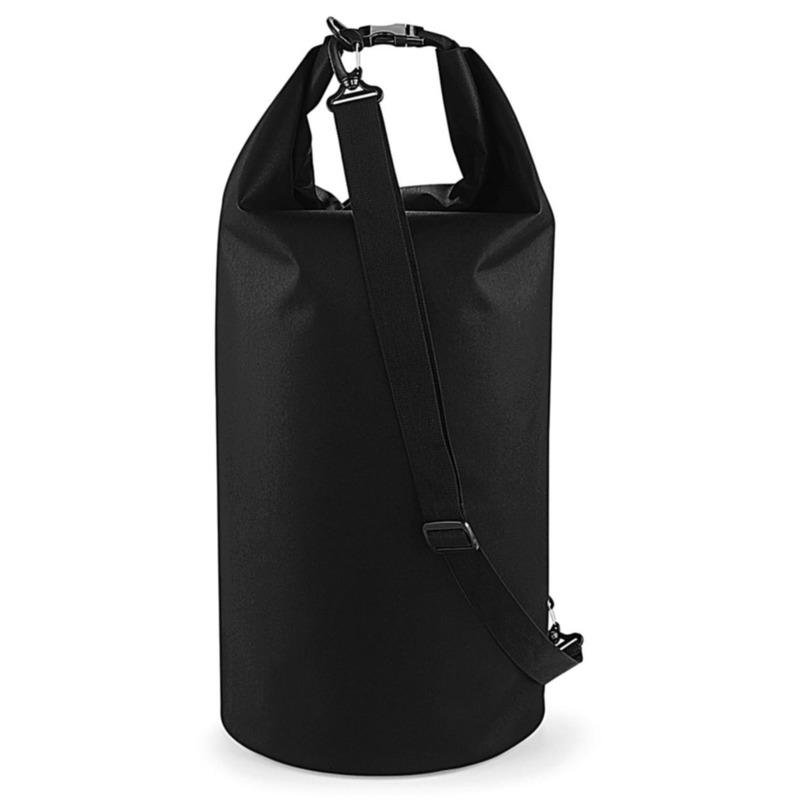 Strandtas drytube 40 liter zwart 30 x 55 cm