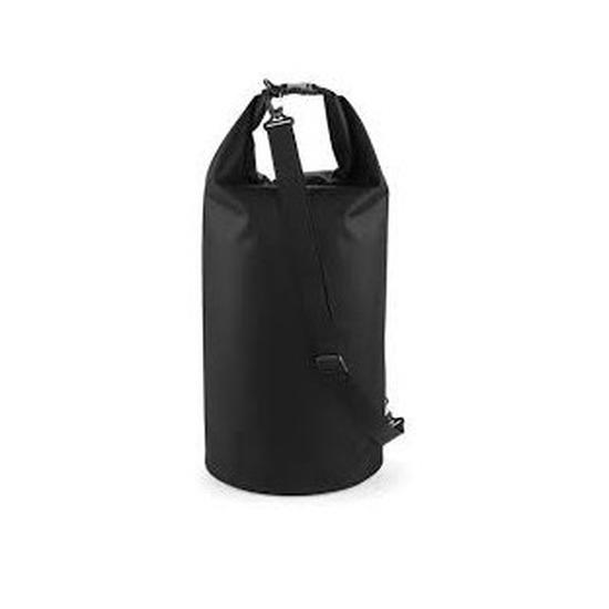 Strandtas drytube 60 liter zwart 30 x 70 cm Quadra Tassen