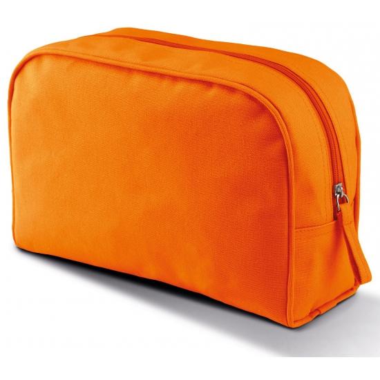 Toilet reistasje oranje canvas 28 cm Kimood Tassen