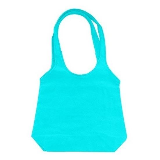 Turquoise shopper 43 x 41 cm