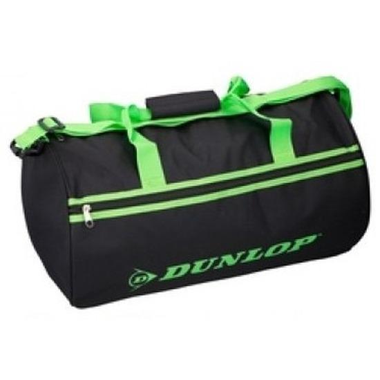 Zwart/groene sporttas Dunlop 50x30x30cm